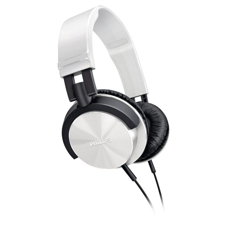 Philips DJ Style Headphones - White I think these are the style my daughter would like