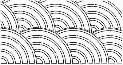 Quilt Stencils By Pepper Cory-C. L. Baptist Fan 10 X20