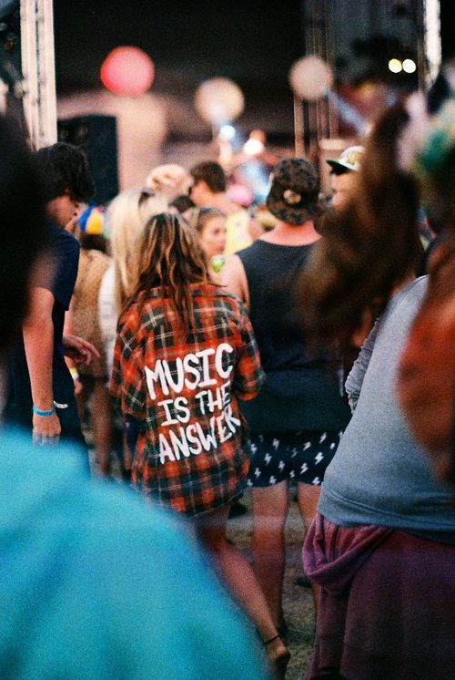 music is the answer flannel shirt