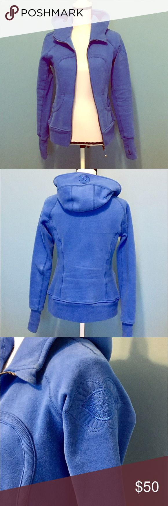 Lululemon Scuba Hoodie Barely worn Blue Scuba Hoodie in size 6. In great condition still. lululemon athletica Tops Sweatshirts & Hoodies