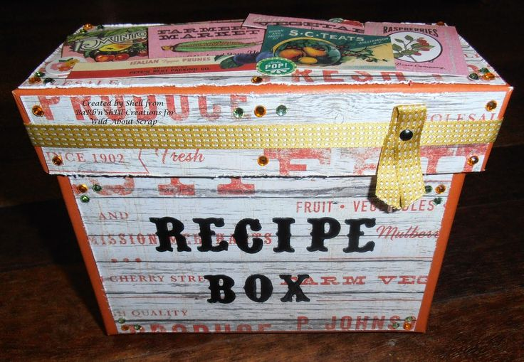 BaRb'n'ShEllcreations - Basic Grey Herbs and Honey - Recipe Box - created by Shell