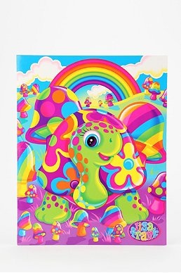 """Lisa Frank Limited Edition Vintage Portfolio Folder at Urban Outfitters. If I had known these would have become """"vintage,"""" I would have had my parents """"invest"""" in more trapper keepers."""