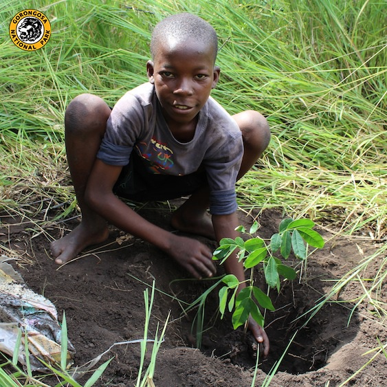 Today, the students from Pungue Primary School planted 77 trees! How are you preparing for World Forest Day tomorrow?    Thanks to Adrienne McGill for this photo and for teaching these students about the importance of planting trees.