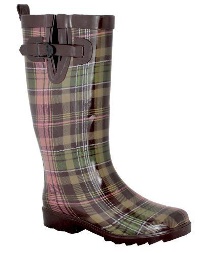 Capelli New York Shiny Scottish Plaid Ladies Tall Sporty Rubber Rainboot Capelli New York. $24.95. Waterproof Rubber. Made in China