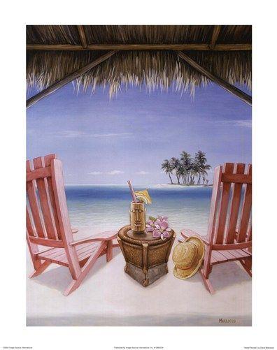 Island Retreat Art Print by David Marrocco