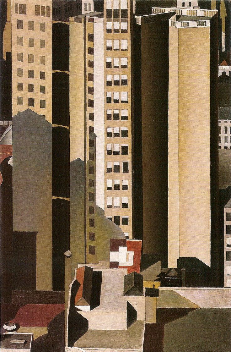 Charles Sheeler:  Skyscrapers (1922)