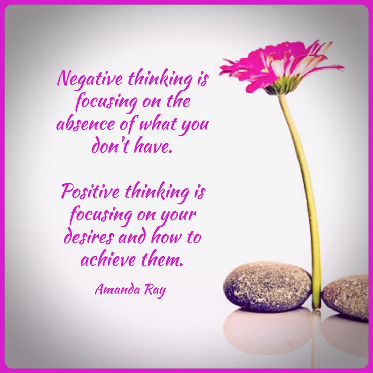 Negative thinking is focusing on the absence of what you don't have; positive thinking is focusing on your desires and how to achieve them. #amandaray #positivequotes #positivethinking #positivemindset #sayings #sayingsandquotes #sayingstoliveby #quotes #mindfulness