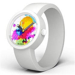 O Clock Watch - Splash One dial with White strap