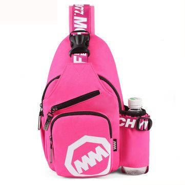 Women Men Nylon Light Chest Bags Casual Shoulder Bags Outdoor Sports Crossbody B - US$24.81