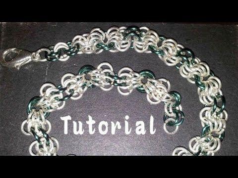 Tutorial ChainMail: Butterfly Chain (Maglia Farfalla) per Braccialetti o Collane - YouTube
