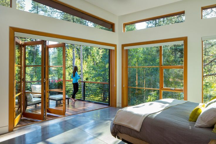 mountain home bedroom contemporary with clerestory windows contemporary window film