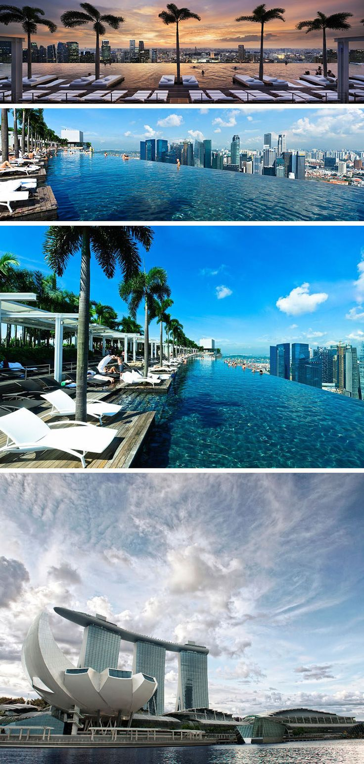 10 incredible hotel rooftops from around the world the infinity pool on top of the marina bay sands hotel in singapore is as long as three olympic size