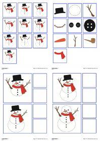 Un jeu d'observation et de discrimination visuelle avec un bonhomme de neige.