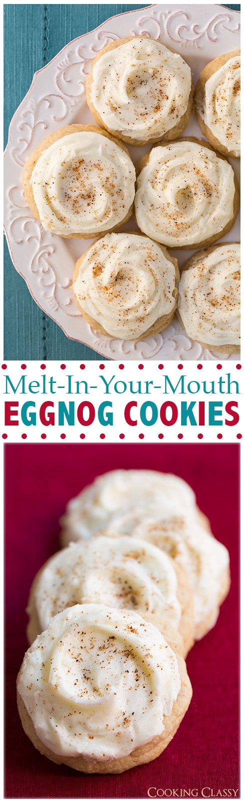 Melt-In-Your-Mouth Eggnog Cookies - Definitely one of my favorite holiday cookies!!