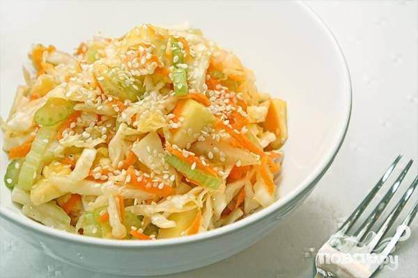 Капустно-овощной салат - кулинарный рецепт с фото на Повар.ру