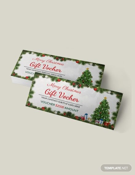 when one thinks of gift vouchers the free christmas invitation coupon template should be among