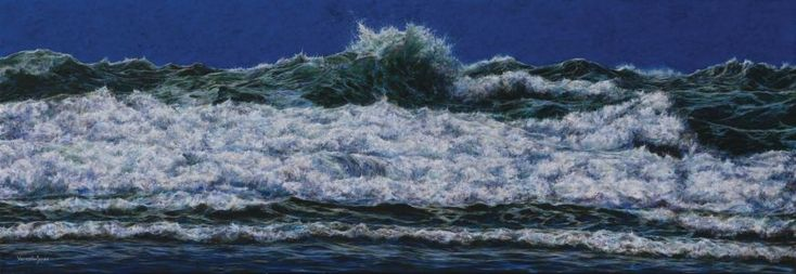 """The crown of the wave"" Diptych 110cm X 320cm acrylic on linen"