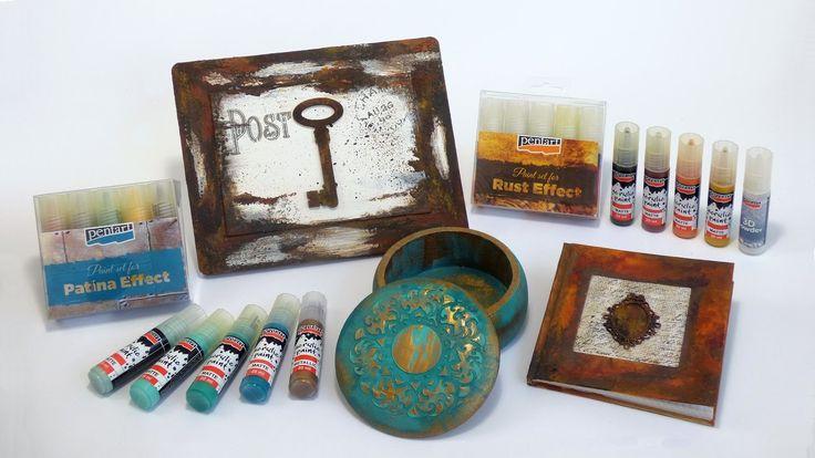 Patina és rozsda festék szettek // Patina and rust effect paint sets
