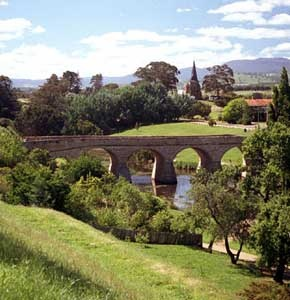 Richmond Bridge, Australia's oldest bridge & other historical sites; Richmond, Tasmania, Australia