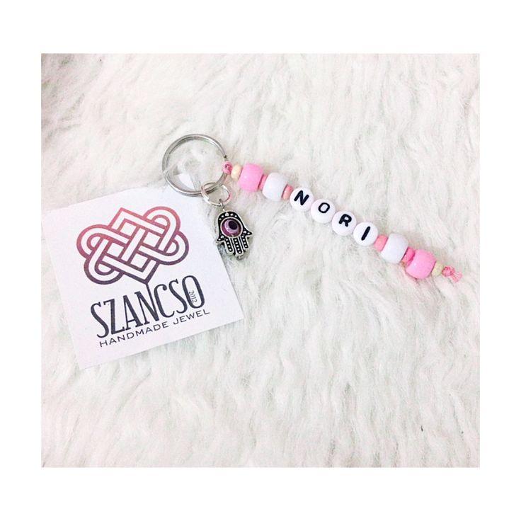 Handmade beads Keychain with hamsa