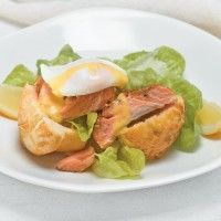Eggs Benedict with Regal Wood Roasted Smoked Salmon and Parmesan Brioche and Tarragon Hollandaise