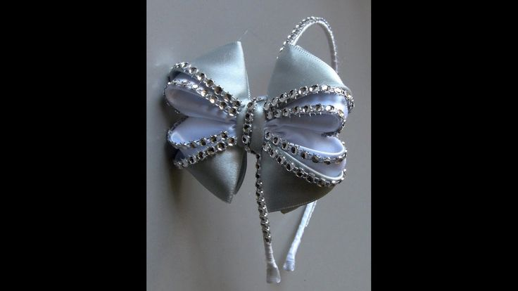 Laço LUXO com strass -ribbon with rhinestone-DIY