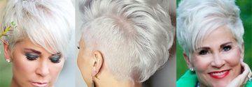 Spierwit haar is echt BAAS in kort haar! De laatste jaren is een spierwitte haarkleuring super populair en wij kunnen dit alleen maar beamen, want wit is echt een vet stoere kleur in een kortgeknipt kapsel!
