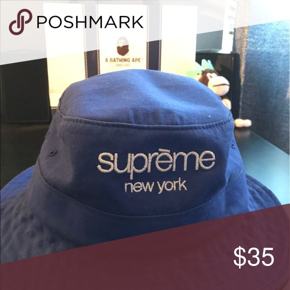 Supreme bucket hat 100% authentic supreme blue bucket hat , size medium/large , will ship immediately, Supreme Accessories Hats