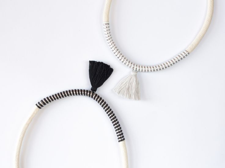 sisters | #deuxsoray #ds #handmade #jewelry #white #black #metallic #metallicnecklace #rope #ropenecklace #design #photo #tassel #tasselnecklace #silver #sisters #etsy #seller #two #bewhoyouare