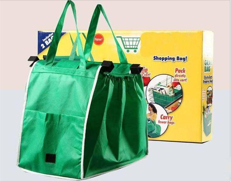 Encontrar Más Bolsas de Almacenamiento Información acerca de 2 unids Verde Bolsas de Supermercado Bolsa de Almacenamiento de Bolsas de la Compra Plegable Bolsa de Compras Carro, alta calidad storage bag, China storage bags bags Proveedores, barato bag storage de Yuson International Co. Ltd en Aliexpress.com