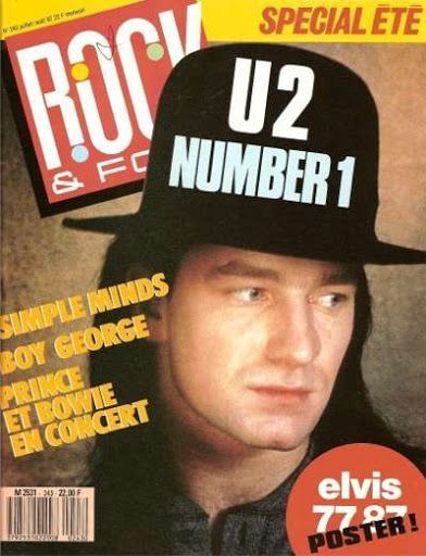 U2 -Magazine Rock & Folk N°283 -Juillet /Aout 1987