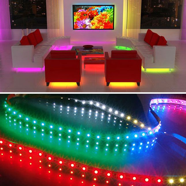 Strip LED lighting to go under furniture, kitchen counter, pictures etc.