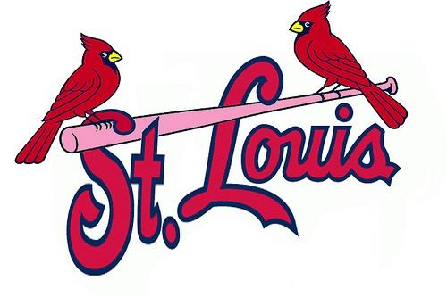 Saint Louis Cardinals logo breast cancer bat Brighter Pink #cards #cardinals #redbirds #saintlouis