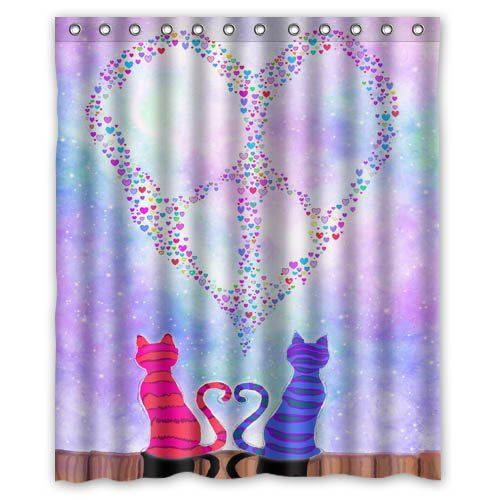 Peace Sign Peace Love Hope 60(w)x72(h)Inch Bathroom Waterproof · Peace SignsShower  Curtains