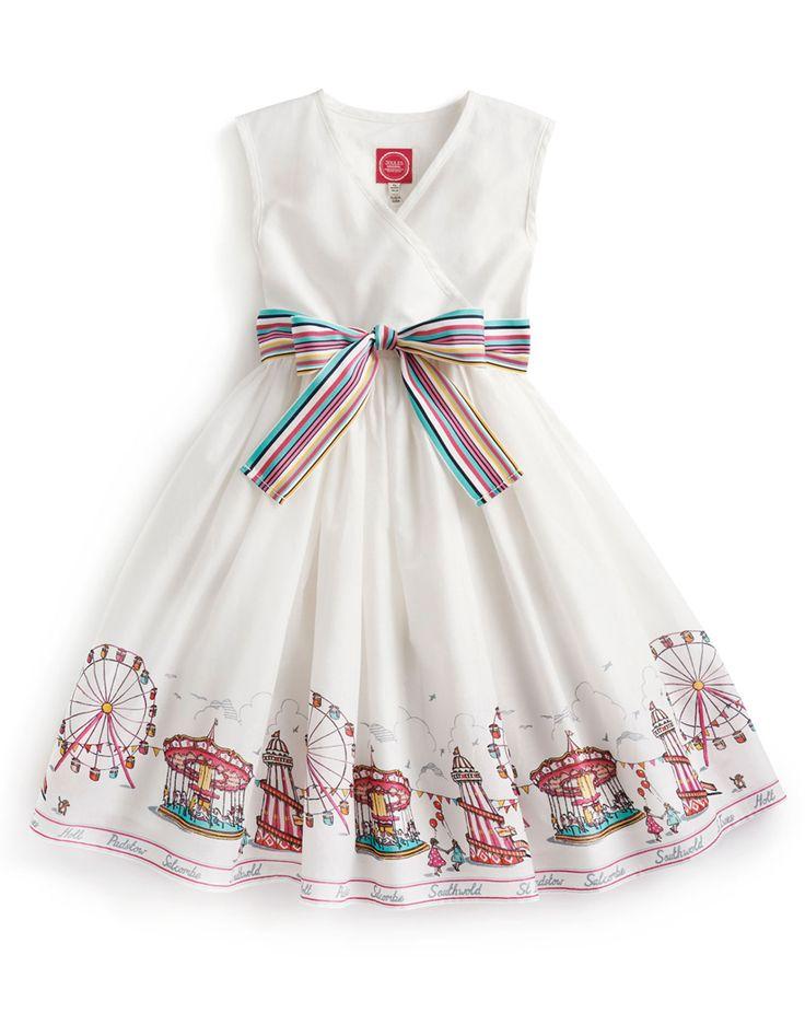 Joules Girls' Croquet Fairground Print Dress