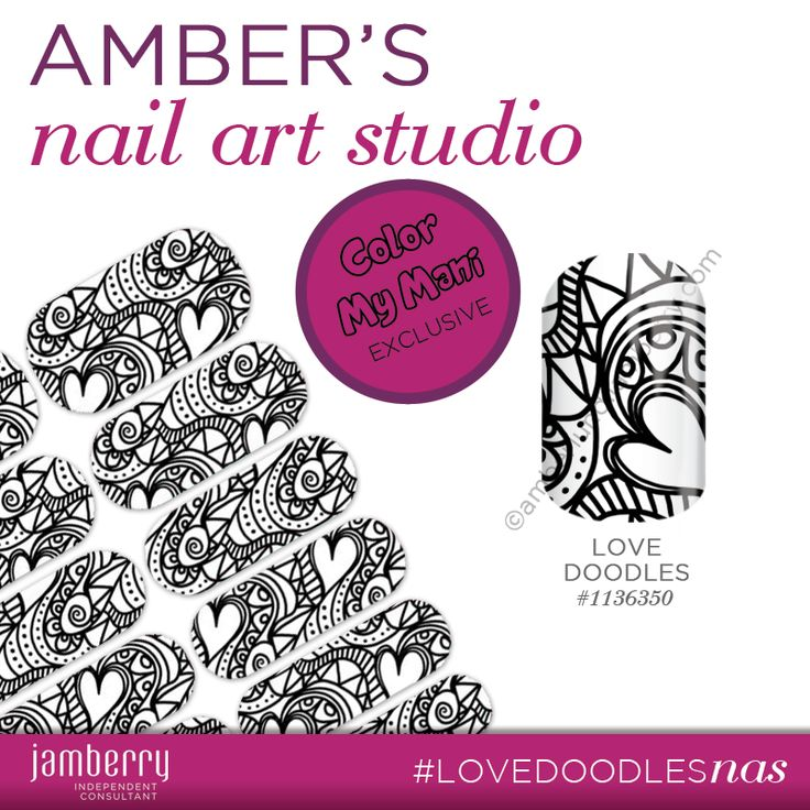 Nail Art Studio: Color My Mani: Love Doodles