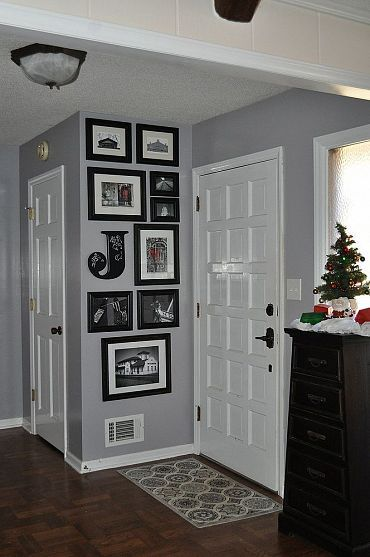Entryway idea - add a c in somewhere and keep frames conisistent on one of the walls