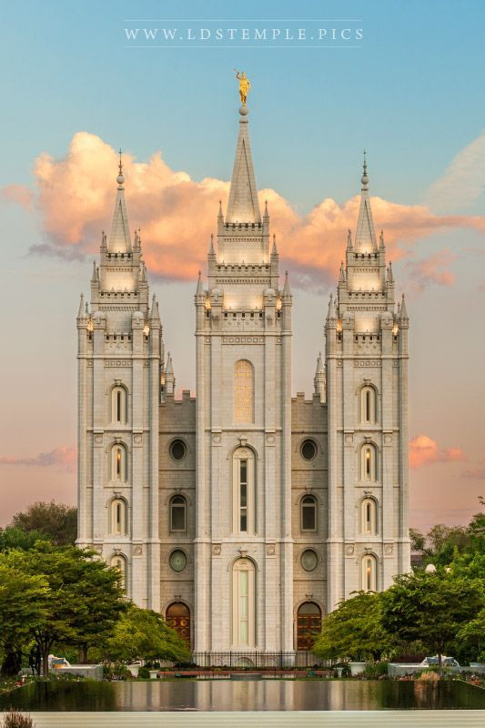 Salt Lake Temple Sunrise West