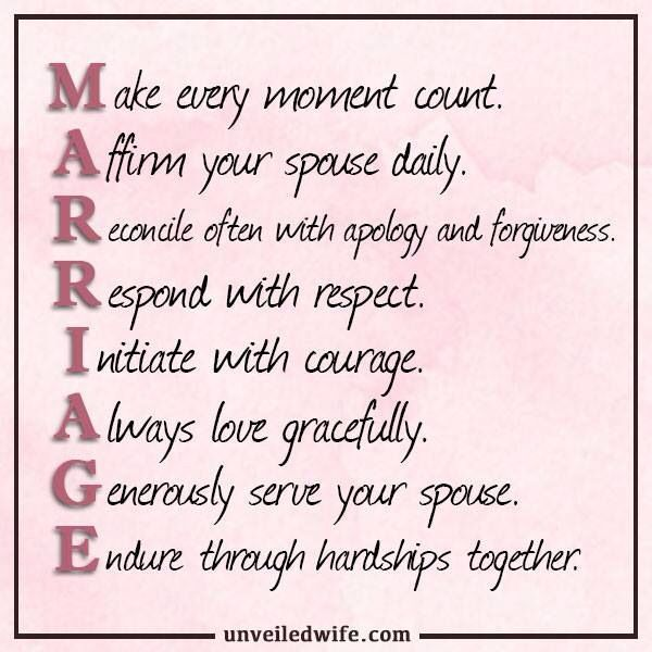 acronym for marriage - Google Search