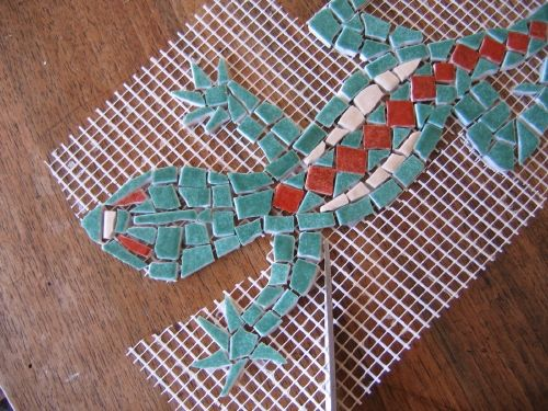 Mosaique sur filet