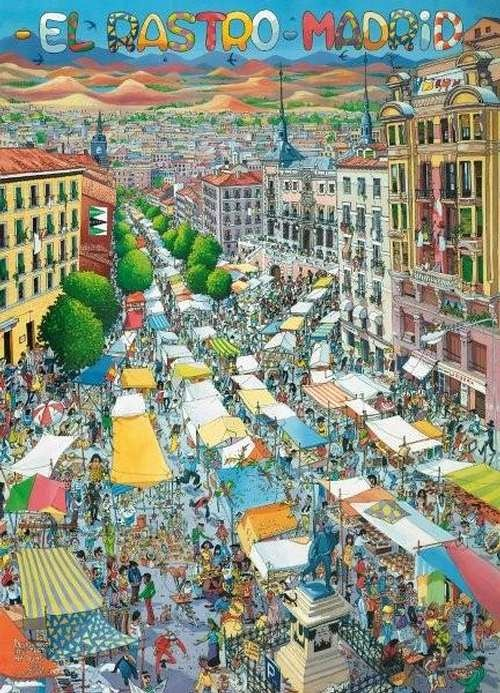 Join the people of Madrid every Sunday at El Rastro market!