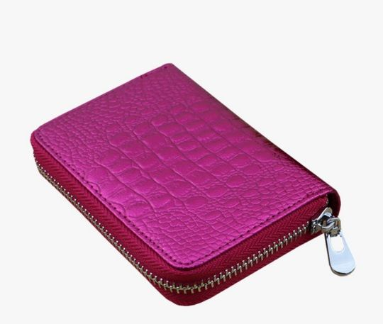 Fuschia Colour Women Cardholder with Zipper