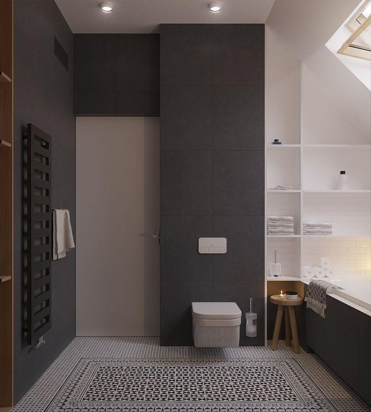 Oltre 25 fantastiche idee su bagni in bianco e nero su pinterest - Bagno moderno mosaico ...