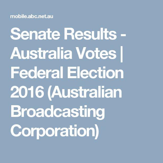 Senate Results - Australia Votes | Federal Election 2016 (Australian Broadcasting Corporation)