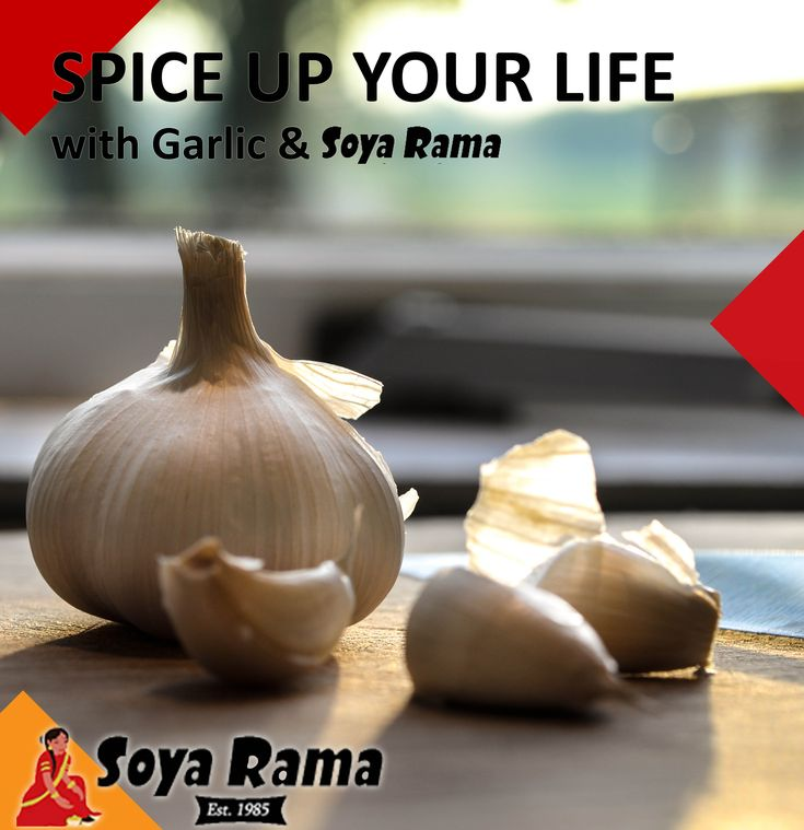 IS THERE A SINGLE PERSON ON THIS PLANET WHO DOESN'T LIKE GARLIC?  You cant go wrong with Garlic, It really is a herb that gives! This delicious medicinal bulb is a natural antibiotic that is rich in nutrients and flavour!  GARLIC ... Enrich your Delish Soya Rama dish! #SoyaRamaSpiceUpYourLife #healthy2018