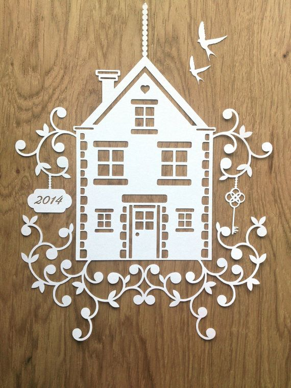 TEMPLATE 'New Home' Papercutting Design by TommyandTillyDesign