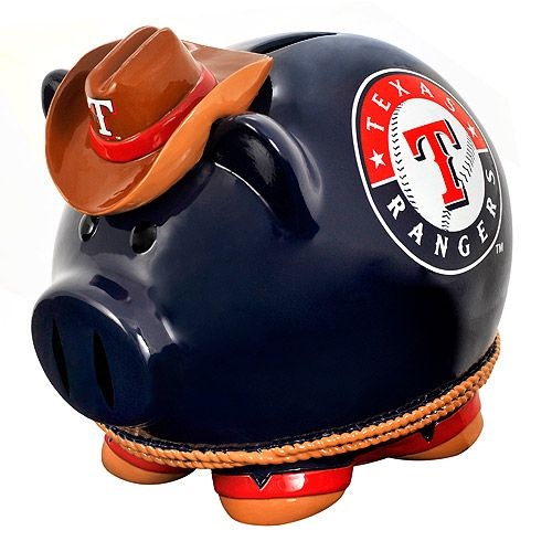 Texas Rangers Piggy Bank --- You need this!  Or, I need this to save ticket money in!