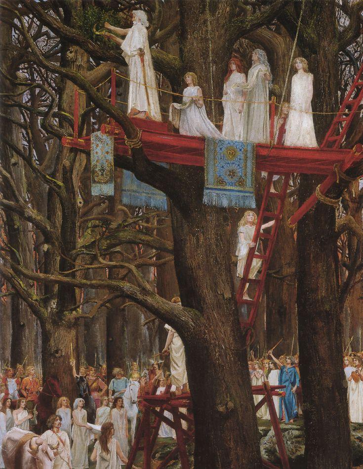 Druids Cutting the Mistletoe « Motte Henri Paul (12 December 1846 - 1922) « Artists « Art might - just art