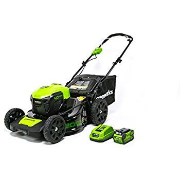 Amazon.com : GreenWorks MO40L410 G-MAX 40V 20-Inch Cordless 3-in-1 Lawn Mower with Smart Cut Technology, (1) 4Ah Battery and Charger included : Patio, Lawn & Garden