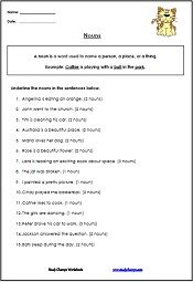 Printables Types Of Nouns Worksheet 1000 ideas about nouns worksheet on pinterest comprehension tons of printable noun worksheets learn and identify different types proper common abstract more